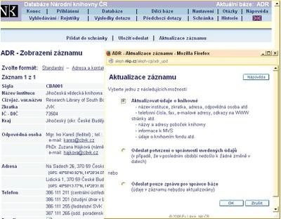 baze adr_aktualizace
