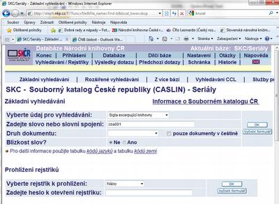 fb3ec249a5 evidence1.png — Souborný katalog ČR - Portál CASLIN